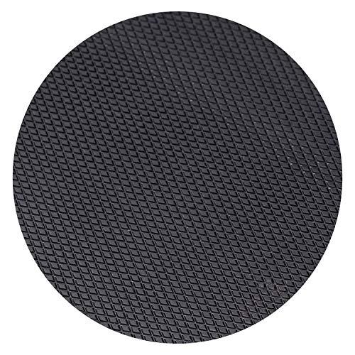 Langlauf Schuhbedarf Topy Absatzgummiplatte Absatzgummi 6 mm schwarz, Rauten-Design