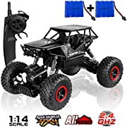 SZJJX RC Fahrzeug Cars Offroad Rock Crawler Truck 2,4 GHz 4 WD High Speed 1: 14 Radio Fernbedienung Racing Cars elektrische Schnell Race Buggy Hobby Auto