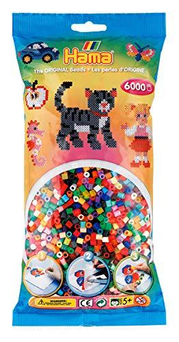 Hama Perlen 205-68 perline da stirare Midi, circa 6000 pezzi in 52 diversi colori, multicolore
