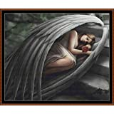 Sleeping Angel ~ タペストリーパターン [PDF] Cross Stitch PDF Pattern