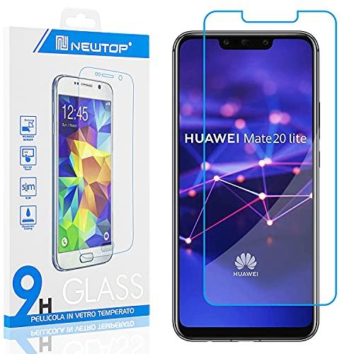 N NEWTOP [1 PEZZO] Pellicola GLASS FILM Compatibile con Huawei Mate 20 Lite, Fina 0.3mm Durezza 9H Vetro Temperato Proteggi Schermo Display Protettiva Anti Urto Graffio Protezione