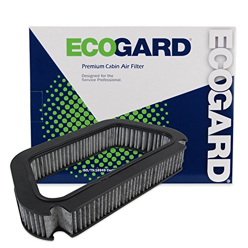 ECOGARD XC36076C Premium Cabin Air Filter with Activated Carbon Odor Eliminator Fits Audi A8 Quattro 2004-2010