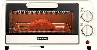 Toaster oven Hogar Pequeño Horno Tostador multifunción de 11L Mini Horno de Desayuno Tubo de Calentamiento de Acero Inoxidable Bandeja de Horno de 60 Minutos Temporizador 800W Blanco