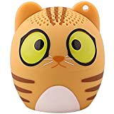 HUKOER Bluetooth 4.1 Cartoon Haut-Parleur Portable/Ultra Mini Animaux Enceintes avec Bande Dessinée sans Fil (Chat)