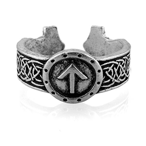 URBANTIMBER Anillo Thor 's Martillo Vikingo Rune tiwaz-Plata