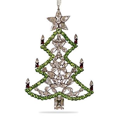 Hallmark Keepsake 2017 All Spruced Up Premium Gemstone Tree Christmas Ornament