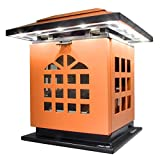 HLC® Tragbare Tea Kerzen-Leuchte Schreibtischlampe mit Akku 2000 mAh Power Bank Ladegerät zum Aufladen von Smartphones und Tablet,mobil aufladbare LED Tischlampe auch als Kerzenständer ersetztbar, Orange