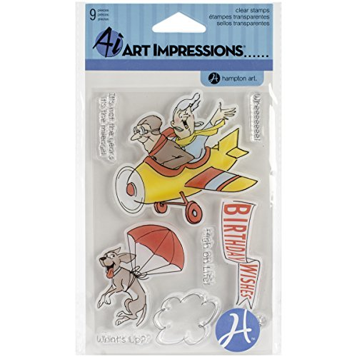 Hampton Art Art Impressions Clear Stamps His and Hers Flying High, 4 by 8-Inch