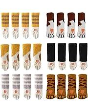 Yolococa 24 STKS Stoel Sokken met Leuke Kat Poten Ontwerp 6 Patronen Meubelen Been Caps Anti Scratch Anti-Noise Stoel Been Covers Tafelbeen Pads Floor Protectors