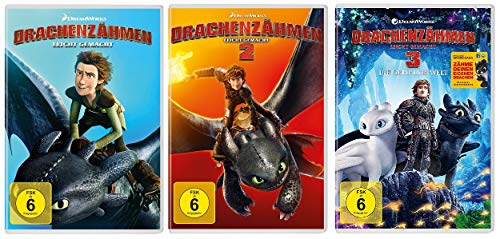 Drachenzähmen leicht gemacht - Kinofilm 1+2+3 im Set - Deutsche Originalware [3 DVDs]
