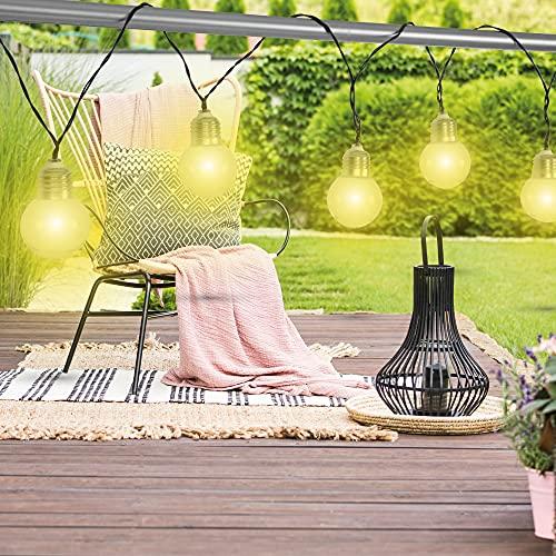 Bestlivings Cadena de luces LED solares, 380 cm, resistente a la intemperie, lámpara solar para jardín, iluminación de caminos, lámpara de pared de seguridad