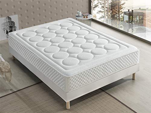 Bellavista Home Matratze Ibiza Memory Foam-Viskoelastisch 90x190x20 cm. Hotelkomfort, sanfter Empfang mit Festigkeit, Therapeutisch. Liegehärten H3&H4, 8 Jahre Garantie.