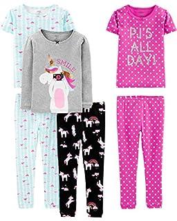 Simple Joys by Carter's Girls' Little Kid 6-Piece Snug Fit Cotton Pajama Set, Unicorn/Dots/Turtle, 8 (B07Y2JW8CC)   Amazon price tracker / tracking, Amazon price history charts, Amazon price watches, Amazon price drop alerts