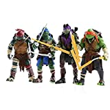 Wild TN 4pcs Adolescent Mutant Tortues Ninja TMNT Jouet Poupée Mobile Mixte Modèle 15cm