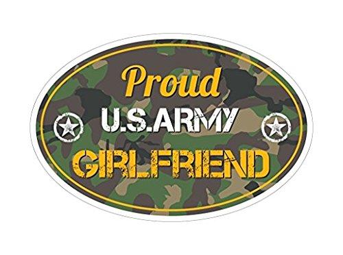 Proud US Army Girlfriend GF Bumper Sticker Vinyl Decal Green Camo