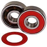 8, 16 oder 32 Stück 608er 2RS MACH1 ABEC-11 Renn Kugellager + Spacer inkl. T-Tool z.B. für Inliner Skates Skateboard (16x Lager + 8x Spacer + 1x T-Tool) - 4