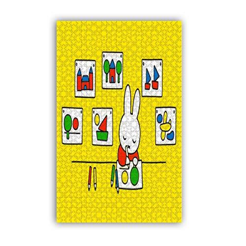 Cute Doormat Miffy 1000 Teile Puzzle für Erwachsene Kinder - The Toy Shop Puzzle 1000 Teile für Kinder Bildung Spielzeug Spiel Geschenk Puzzles