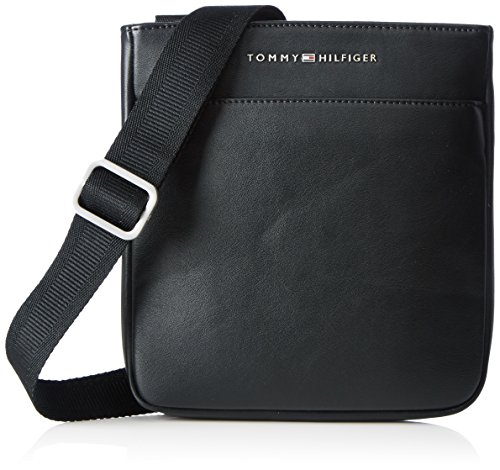 Tommy Hilfiger Herren TH CITY MINI FLAT Business Tasche Schwarz (Black)