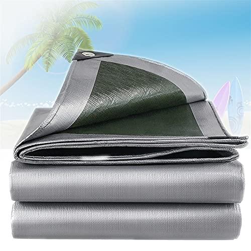 GZGLZDQ 0.32mm PE Lona Impermeable Tela Impermeable con Ojales Reforzados para Jardín Trampolín Coche Camping Jardinería Múltiples Especificaciones Disponibles (Color : Gray-Green, Tamaño : 5x6m)