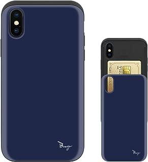 iPhone Xs Max ケース iPhoneXs Max ケース TPU バンパー Bumper 耐衝撃 カード入れ マット加工 ワイヤレス充電対応 スマホケース 擦り傷防止 保護フィルム Breeze 3DP 正規品 [IXSMJP205BN]