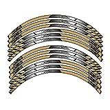 Ruote per Moto Adesivi per Pneumatici Strisce Riflettenti per Cerchi Nastro per Decalcomanie per Moto Pellicola per D-UCATI Scrambler (Colore : 7)