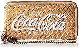 [コカ・コーラ] 財布 ウォレット 合皮 メッシュ 合成皮革 ロゴ コカコーラ かわいい おしゃれ シンプル 旅行 COK-WLT03 キャメル
