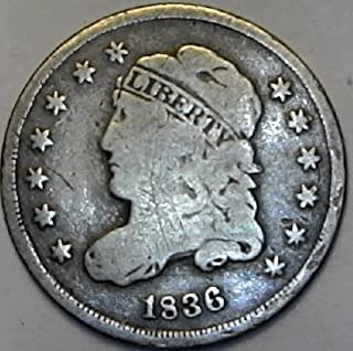 1836 P Capped Bust Dime Very Fine