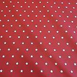 Werthers Stoffe Stoff Meterware wasserdicht Sterne rot