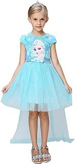 Snow Queen Elsa Princess Girls' Short/Long Sleeve Tutu Dress Costume with/No Cape