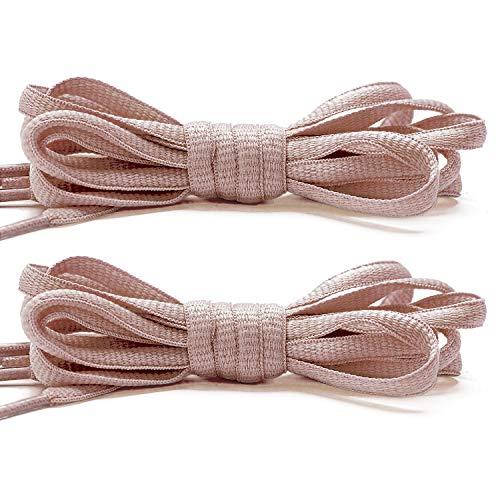 Stepace [2 Paia di Lacci Arrotondati da 60cm per Sneakers, Lunghezza 200cm 18 Colori, Lacci per Scarpe Rosa pelle 140cm