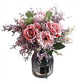 Mryishao Luz Hermosa Rosa Rosa Rosa Artificial Rosa Falsa Seda Seda Flor Boda Nórdica Americana Casa Mesa De Comedor Decoración Entrega Gratuita