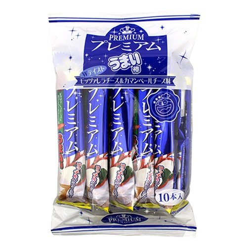 やおきん プレミアムうまい棒 モッツァレラチーズ&カマンベールチーズ味 10本入×12袋