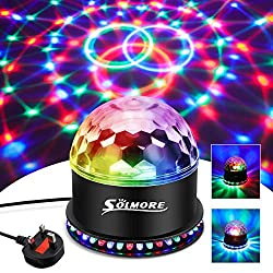 🎉【Special Design】:Compared with the other disco ball, there is a circle of LED beads around this disco lights, with a unique sequential flashing effect and the lights projected onto the ground presents a more wonderful atmosphere. 🎉【51 LEDs Lights】:T...