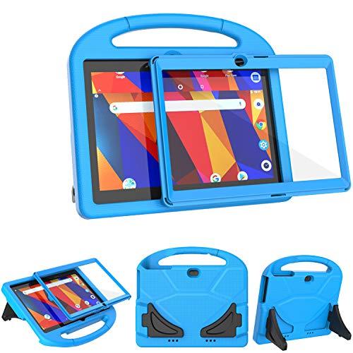 TeeFity Kinder-Hülle für Dragon Touch K10/Notepad K10 Tablet, stoßfest, Dragon Touch K10/Notepad K10, mit eingebautem Bildschirmschutz für Dragon Touch K10/Notepad K10 25,7 cm (10,1 Zoll) Tablet, Blau