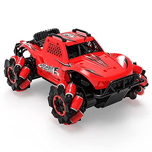 WZRYBHSD 4WD Eléctrico Control Remoto Lateral Drifting Stunt Car Vehículo Todoterreno Con Batería Y Luz Coche De Escalada Velocidad Racing Rock Crawler Vehículo Buggy Modelo Toy Mejor Regalo Hobby Adu