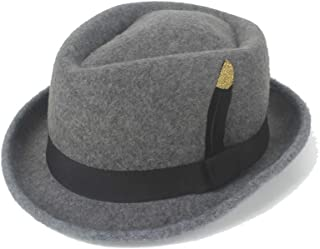 PANFU-US Men's and Women's Flat Top Cap Fedora Ms. Fascinator Casual Wild Style British Style Top Hat Fedora Hat Gentleman Daddy Church Hat (Color : Gray, Size : 56-58CM)