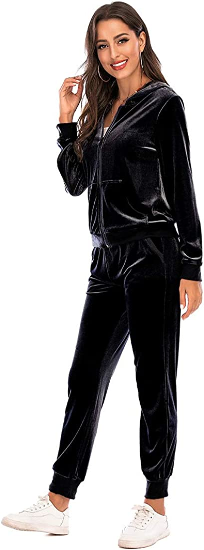 Daily bargain sale Bealin Velour Tucson Mall Tracksuits for Women Jac Sleeve Long Hoodie Zipper