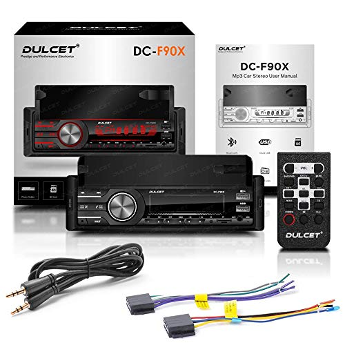 Dulcet DC-F90X 220W Single Din Mp3 Car Stereo with in-Built Smartphone Holder/2.1 Amp Ultra Fast Charging/Dual USB Ports/Bluetooth/Hands-Free Calling/FM/AUX Input/SD Card Slot/Remote Control