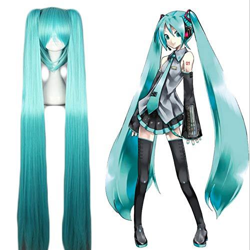 VOCALOID Cosplay Wig Hatsune Miku Costume Play Wigs Halloween party Anime Game Hair 120cm Aquamarine wig