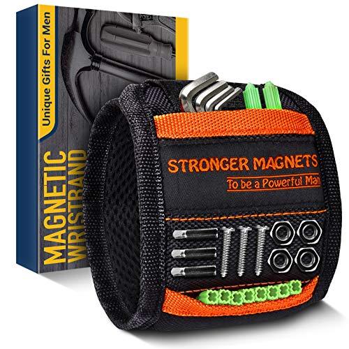 Geschenke für Männer Magnetarmband für Handwerker Werkzeug - Ostern Geschenke Männer Geschenke, Gadgets für Männer Magnetarmband mit 15 Starken Magneten Vatertagsgeschenk, Geschenkideen für Männer