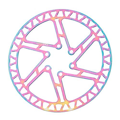 SHHMA Freno de Disco de Bicicleta 160mm Colorido Disco Ultraligero Hueco Bicicleta de montaña Seis Pastillas de Freno de uñas Piezas de Freno de Disco