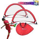 Portzon pop up Soccer Goal Set of 2,Soccer Goals for Backyard- Portable Soccer Nets with Carry Bag...