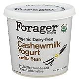 Forager Project Organic Dairy Free Vanilla Bean Cashewmilk Yogurt, 24 Ounce -- 6 per case.