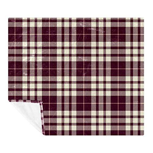 AMEILI Manta de tamaño – para todas las estaciones, ligera y afelpada hipoalergénica – mantas de microfibra para cama, sofá o viaje (152,4 x 203,2 cm) color granate