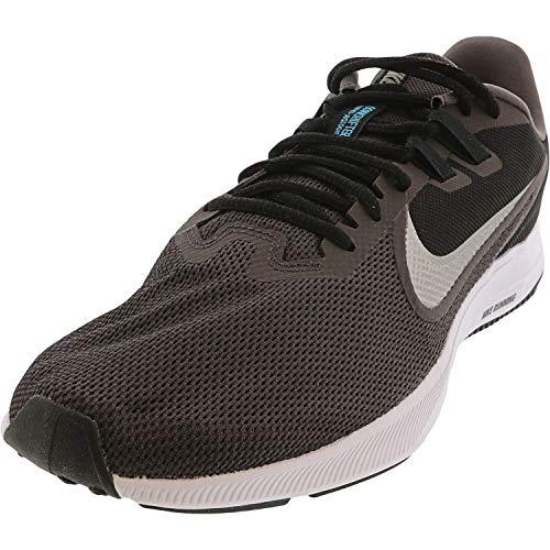 Nike Downshifter 9, Zapatillas de Running para Asfalto para Hombre, Multicolor (Thunder Grey/Mtlc Pewter/Black 008), 43 EU