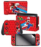 Controller Gear Nintendo Switch Skin & Screen Protector Set, Officially Licensed By Nintendo - Super Mario Evergreen 'Super Mario' - Nintendo Switch