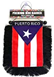 Puerto Rico flags for cars accessories sticker decals Puerto Rican PR homes Quality made banderas para autos small mini Banner hanging window car flags accessory for men women (Classic PR)