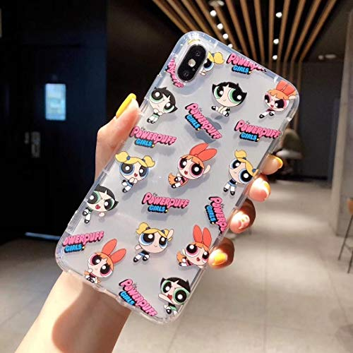 YWCXMY-LDL Cubierta de la Caja Linda supernenas Policías INS teléfono for el iPhone 11 Pro XS X MAX XR 8 7 6 s Plus de la Historieta TPU Volver Soft Fundas (Color : A-3 Duo, Size : For iPhone X)