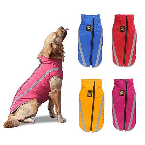 PETCUTE Hundemantel wasserdicht hundejacke für mittelgroße Hunde Warme hundemantel Fleece Grosse Hunde