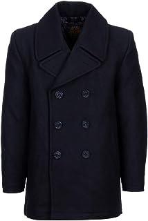 d4110f8f28c5 Fostex Garments, Cappotto in Lana Doppiopetto US Navy Deck Jacket Pea Coat  Marina Americana